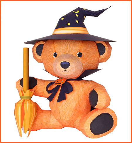 2012 Halloween Teddy Bear Papercraft