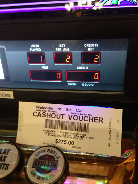 California Casino Cashout Voucher