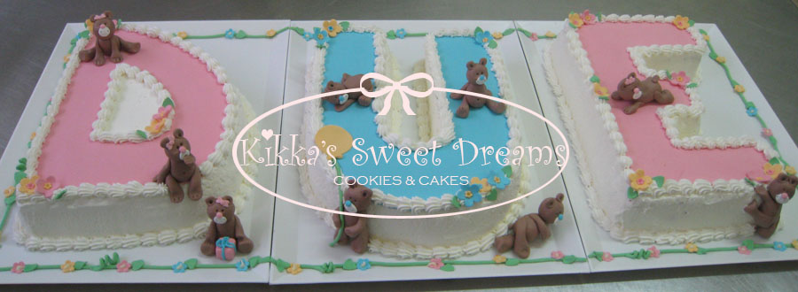 Kikka's Sweet Dreams: Torta Due per tre!!! 2° compleanno di 3 gemelli!