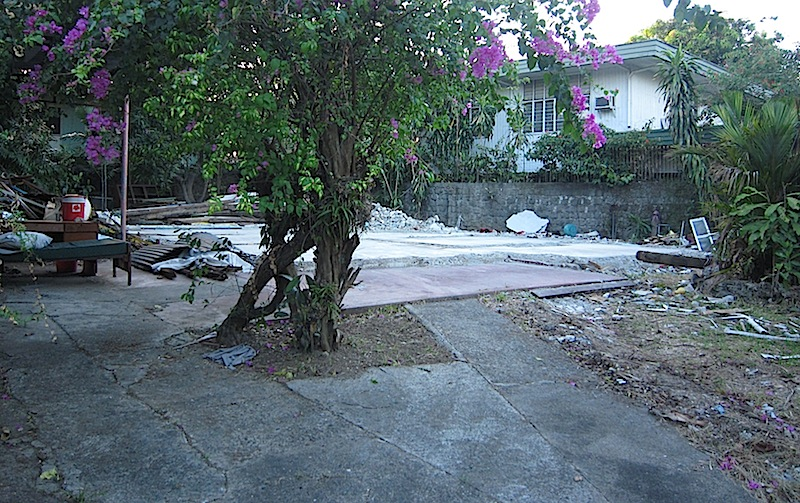 foundation of a demolished house