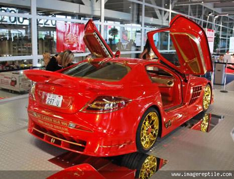 Beautiful car in red paint colors - Red and black paint schemes ...