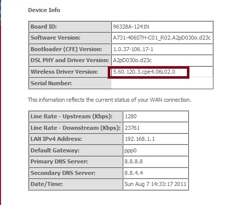 Comtrend ar-5381u user