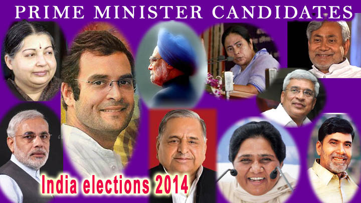 indian prime minister candidate for 2014 photos of important leaders