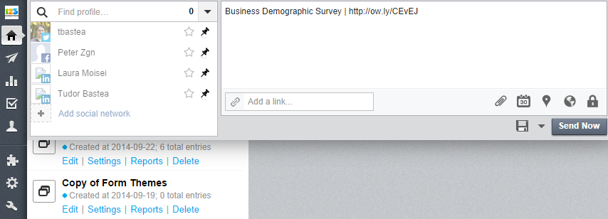 Share Forms via HootSuite