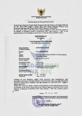 sertifikat bpom theraskin