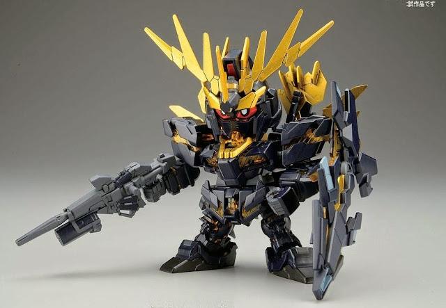 Lắp ghép Unicorn Gundam 02 Banshee Norn BB-391 SD Gundam không tỷ lệ, cao khoảng 8 cm