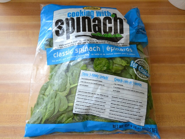 bag of spinach
