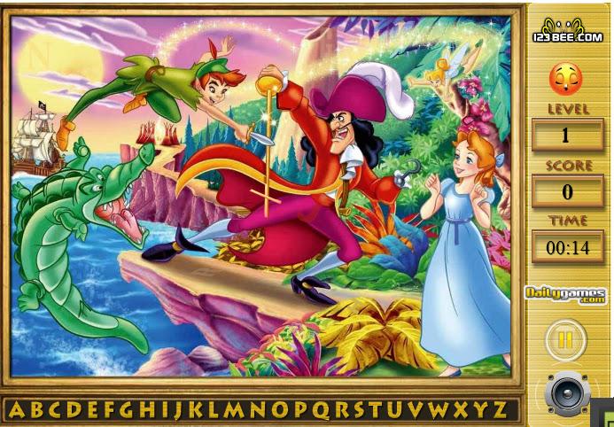 Peter Pan y el alfabeto
