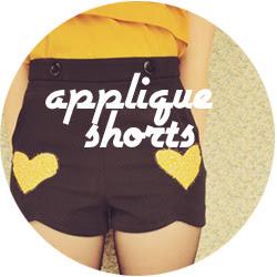 appliqué shorts