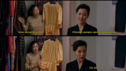 Digging through Hwei Lan's wardrobe.