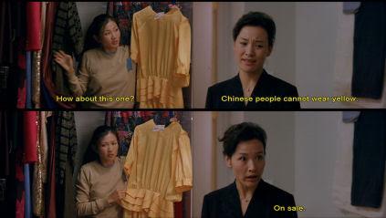 Digging through Hwei Lan's wardrobe.