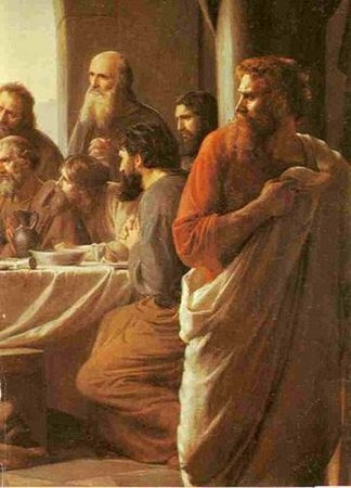 Judas Iscariot Retires from the Table, by Carl Heinrich Bloch (1834-1890)