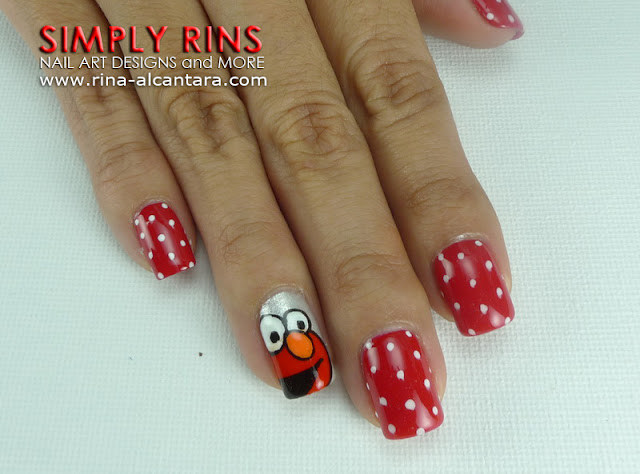 Elmo Nail Art Design