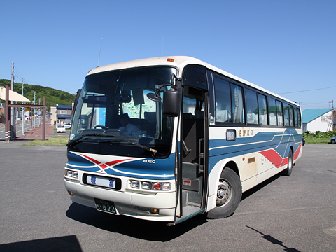 沿岸バス サロベツ線 ・822 豊富駅到着