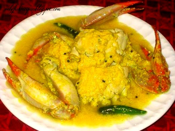 tangy crab curry
