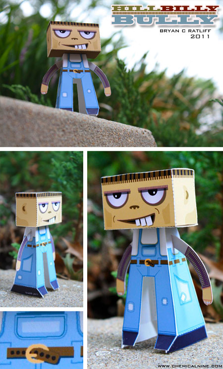 Hillbilly Bully Paper Toy