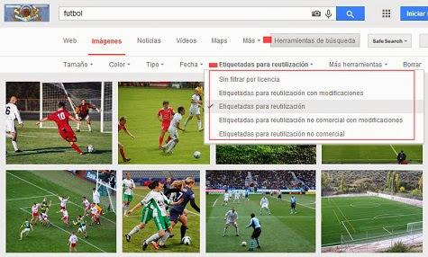 ¿Cómo buscar imágenes sin derechos de autor en Google?