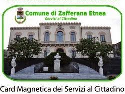 card magnetica dei servizi - Zafferana