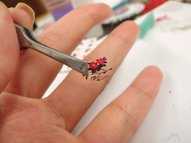 Cherry Blossom Chinese Water Painting Water Decal Nail Art BLE1816