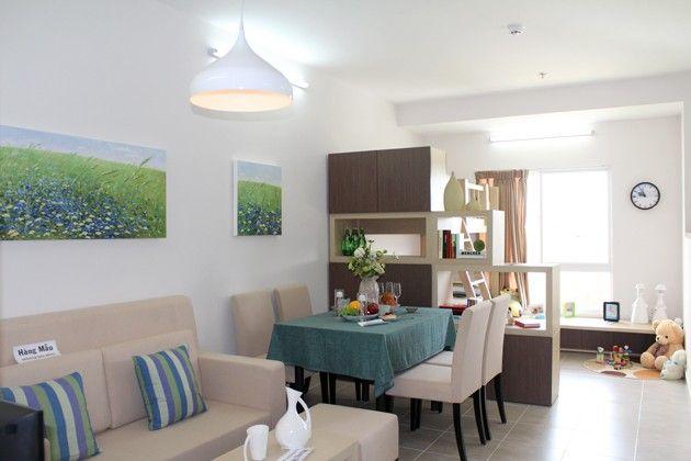 Căn hộ mẫu - Phòng khách - phòng an