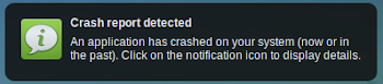 Crash notification in Xubuntu 12.04