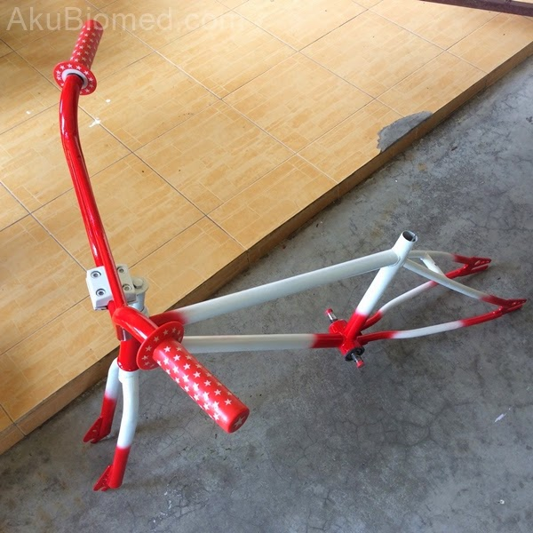 varian warna baru basikal bmx selepas restore