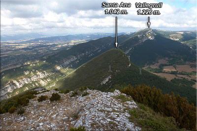 Vista de Santa Ana durante el descenso
