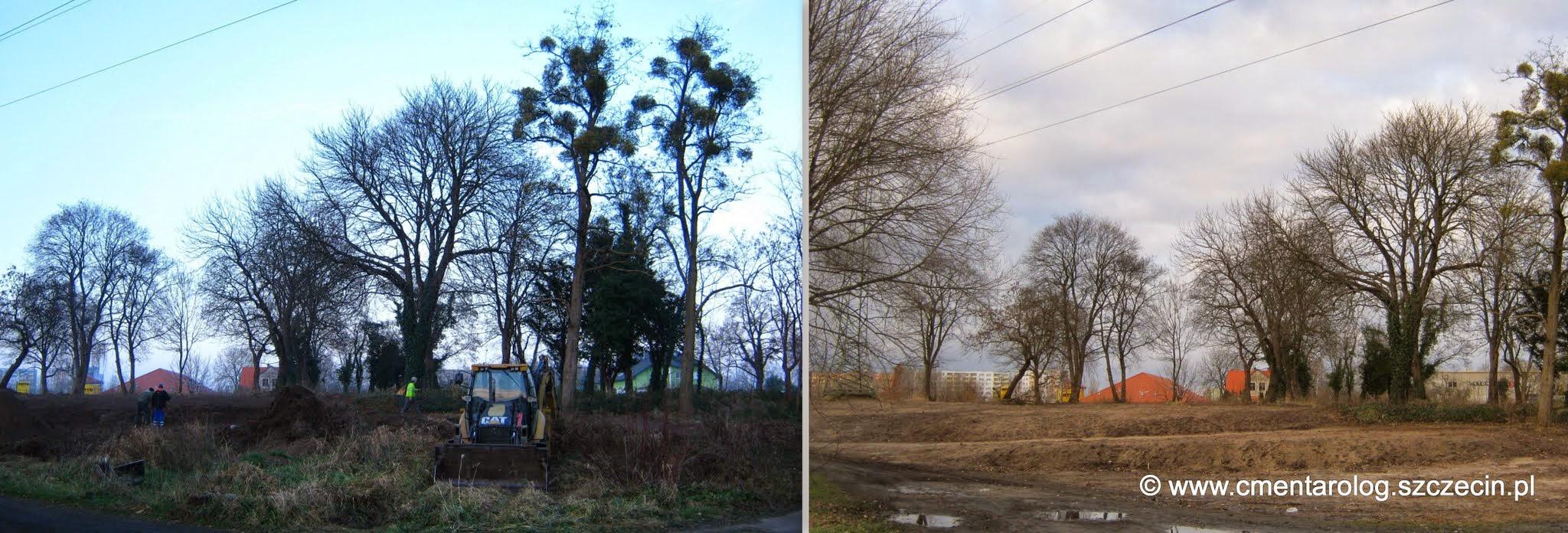 Zdjęcie z 4.12.2014 r. (po lewej) i 14.01.2015 r. (po prawej)
