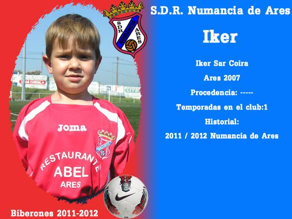 A. D. R. Numancia de Ares. Biberones 2011-2012. Iker