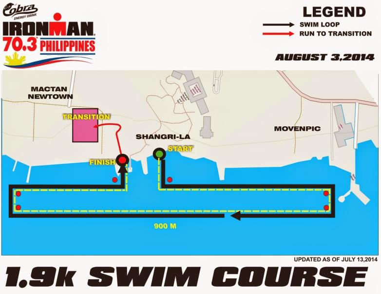 Cobra Ironman 70.3 Philippines 2014 Swim Course