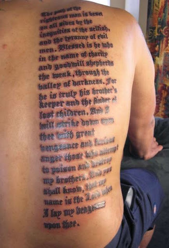 Bible Verses Tattoos On Ribs