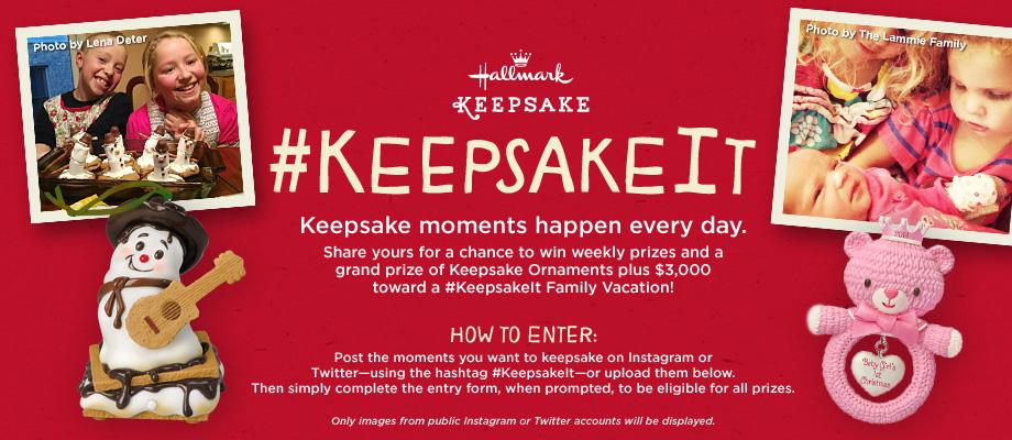 Hallmark #KeepsakeIt Sweepstakes