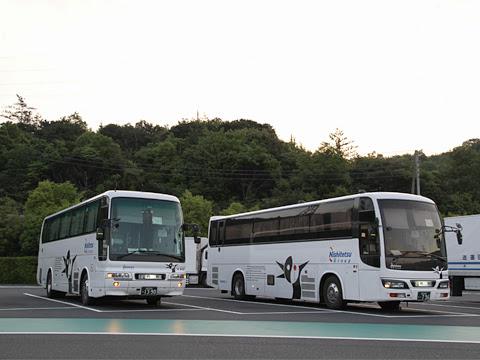 西鉄高速バス「さぬきエクスプレス福岡号」 4101&3802 鴻ノ池パーキングエリアにて