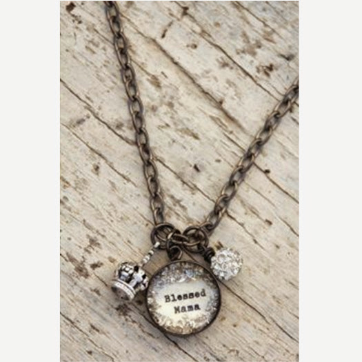 Beth Quinn Designs Blessed Mama Charm Necklace