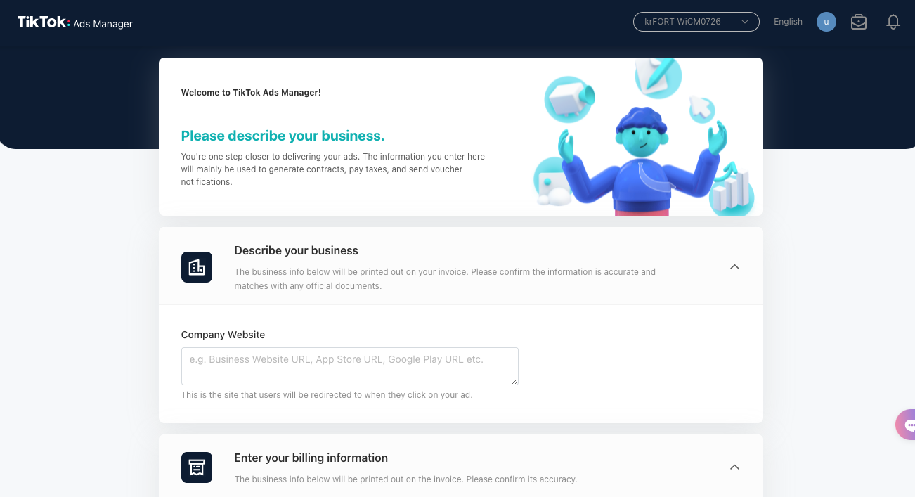 customizing your tiktok business account