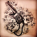 guns-and-roses-tattoo-design-idea1