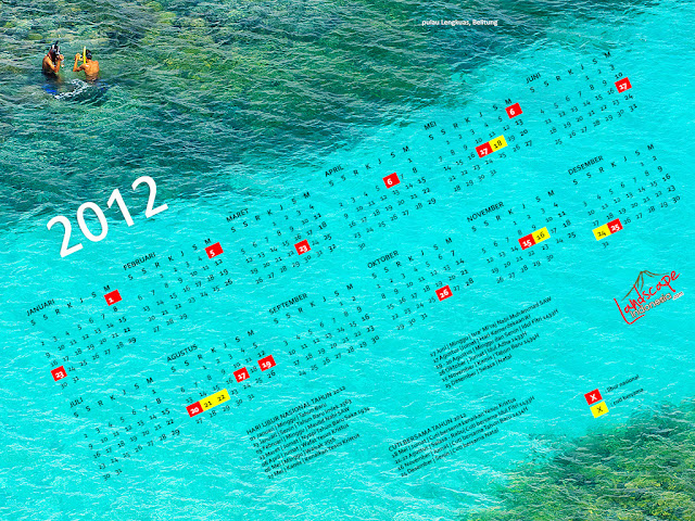 wallpaper kalender 2012 edisi Belitung