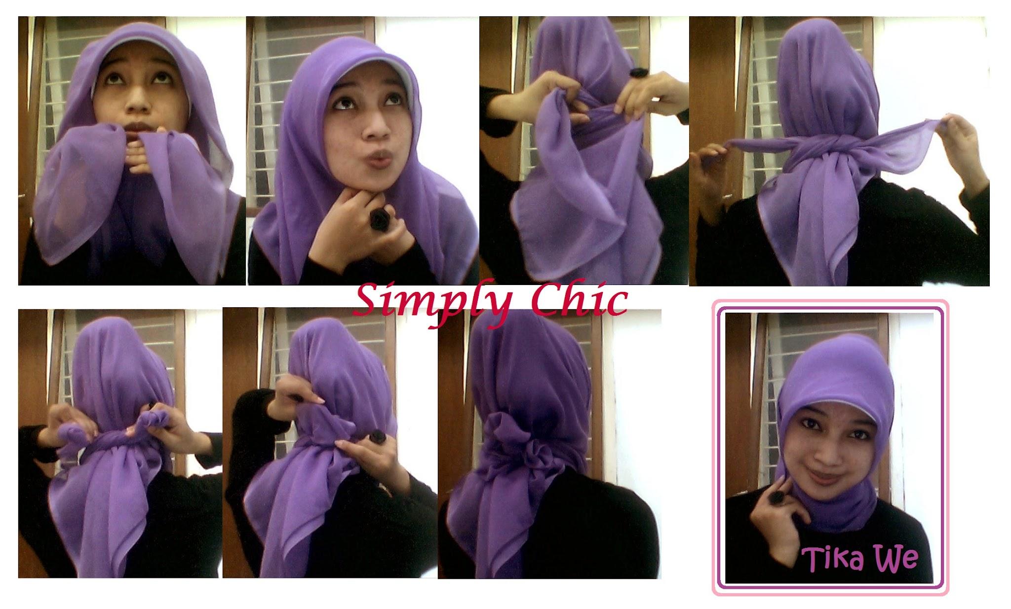 NEW CARA MEMAKAI JILBAB SEGIEMPAT TANPA LIPATAN Hijab Tips
