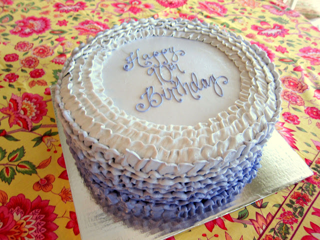 Ruffled Ombre Birthday Cake Living Well And Eating Even Better