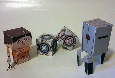 Portal Petites Paper Toy