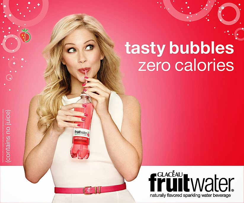 "Christina Applegate Looks Great in New ""Sparkling Truths"" Ad for glaceau's newest brand Fruitwater"