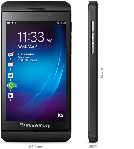 BlackBerry Z10 in Black Color