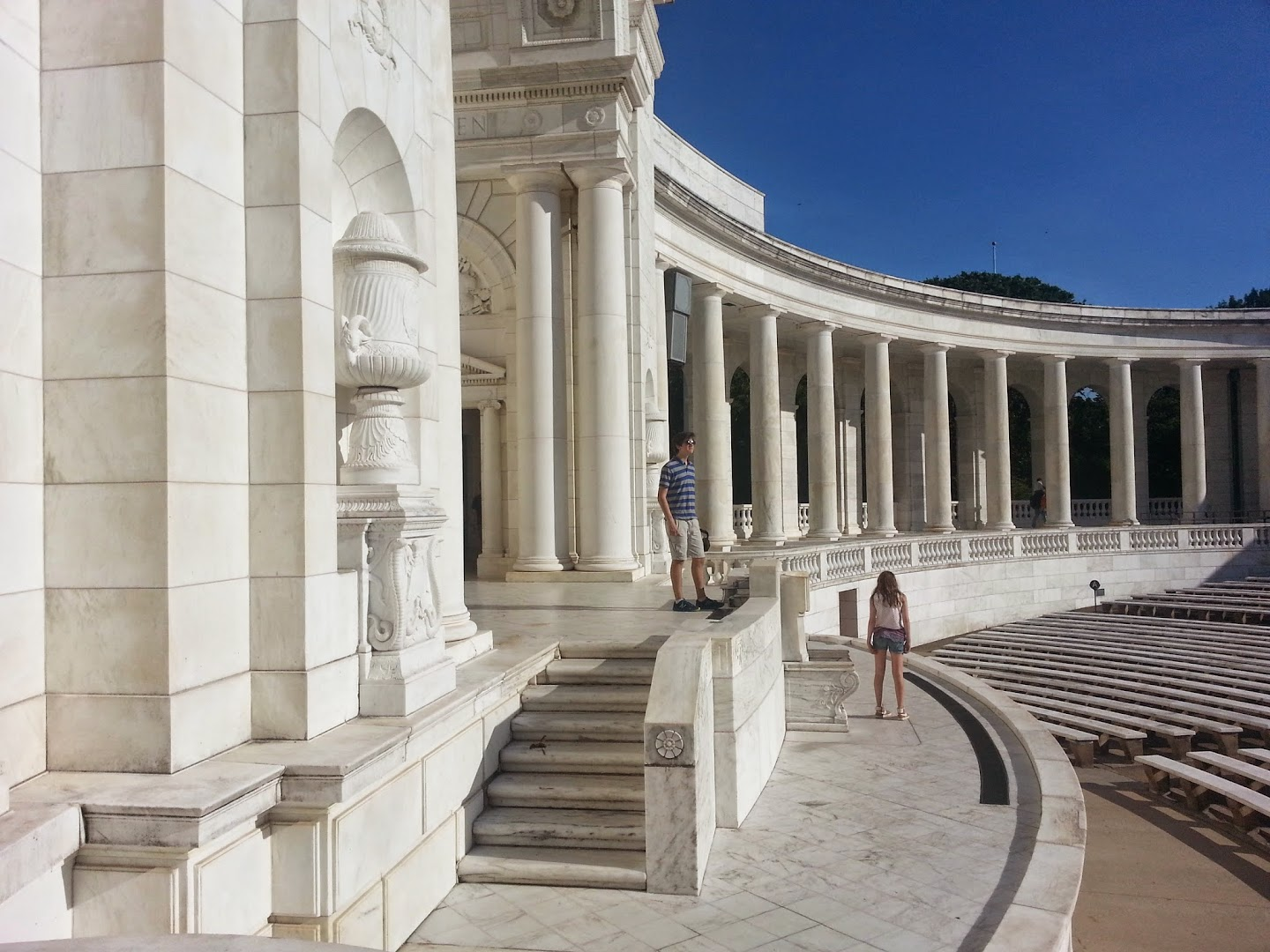 Jesse at the Arlington National Cemetery Memorial Amphitheater