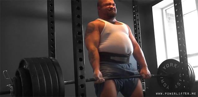 Big Powerlifter Deadlifting