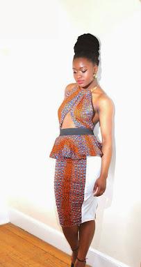 ankara styles, gown