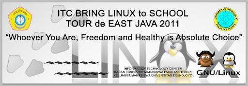 banner Brings Linux to School UTM di sma assa'adah bungah gresik