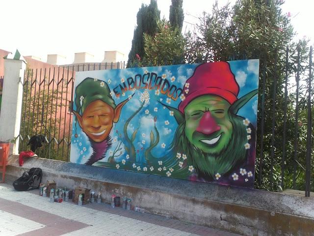 Uno de los graffiti realizados