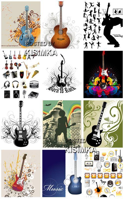 Stock: fundo musical com um violão