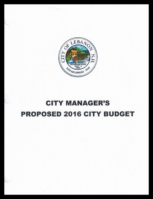 2016 Proposed City of Lebanon Budget