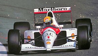 Senna de volta com a MP4/6 da Tamiya